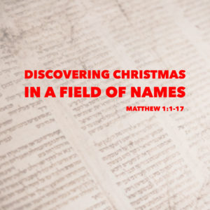 Christmas In A Field Of Names | Matthew 1:1-17