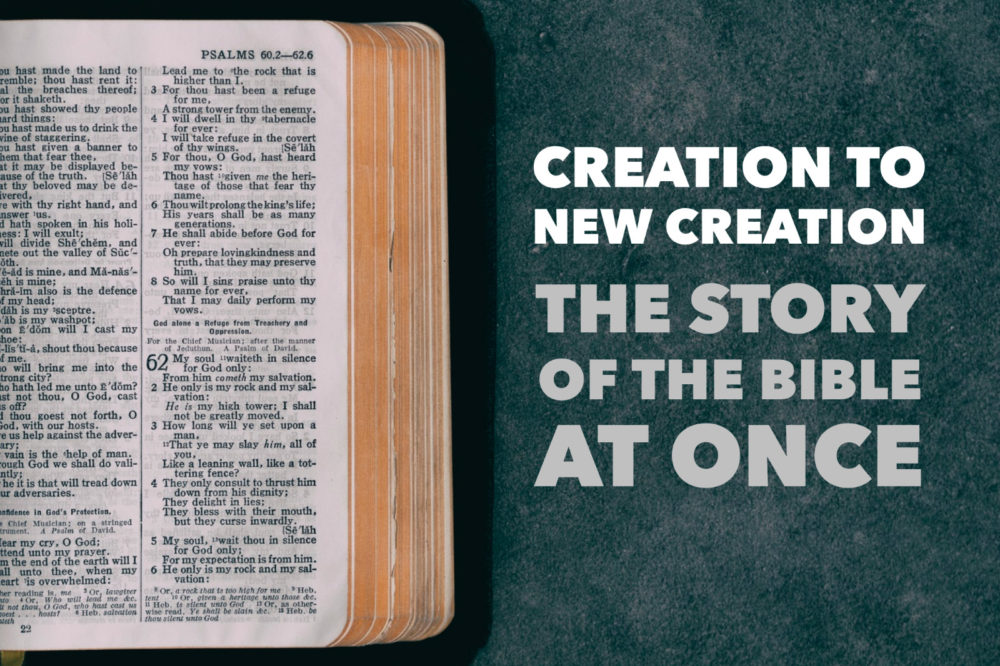 Creation To New Creation | The Story Of The Bible