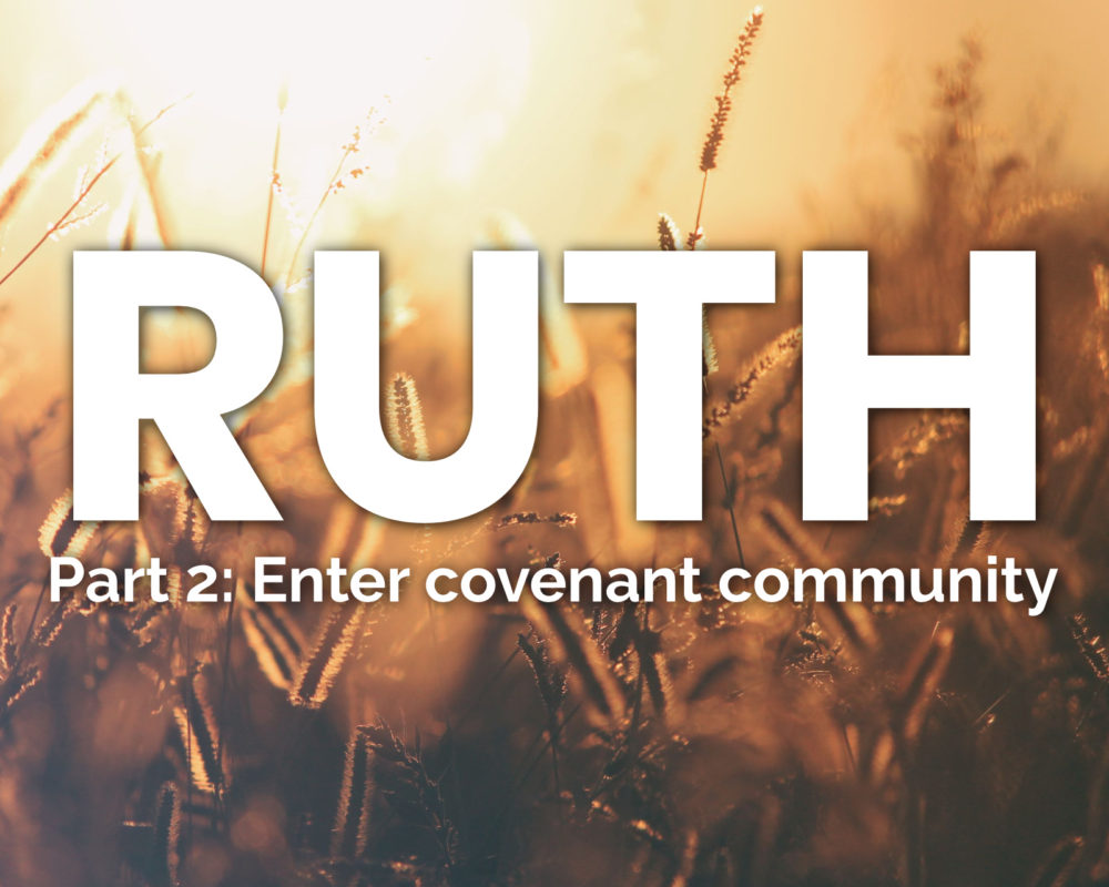 Entering Covenant Community | Ruth 2:1-23